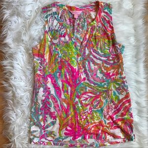 Lilly Pulitzer Scuba to Cuba Print Essie Top